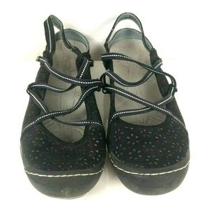 J-41 Oceanic Shoes Black Strappy Sandals Mary Jane